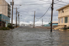 Inondazione a Avana, Cuba fotografia stock libera da diritti
