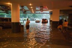 Inondazione causato da Typhoon Ondoy fotografia stock