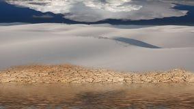 Inondazione del deserto Fotografia Stock
