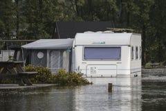 Inondazione del fiume Fotografia Stock Libera da Diritti