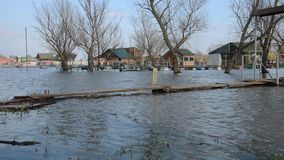 Inondazione del fiume della zattera archivi video