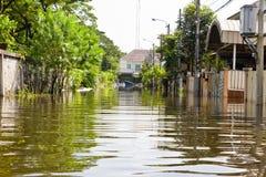 Inondazione dell'acqua della Tailandia Fotografie Stock