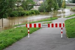 Inondazione dell'alta marea dell'inondazione a Hannover Germania Fotografia Stock