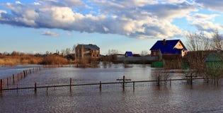 Inondazione della primavera Immagine Stock
