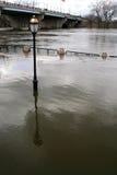 Inondazione della sorgente sul fiume di Connecticut Fotografia Stock