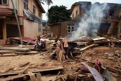 Inondazione delle conseguenze Fotografie Stock Libere da Diritti