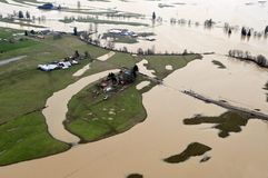 Inondazione dello Stato del Washington Fotografie Stock Libere da Diritti