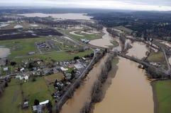 Inondazione dello Stato del Washington Fotografia Stock