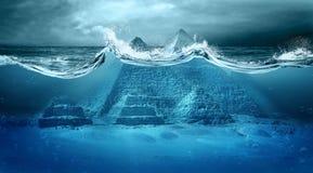 Inondazione di apocalisse Fotografia Stock