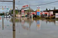 Inondazione 2013 di Calgary Immagine Stock