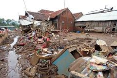Inondazione di disastro dell'Indonesia - Garut 052 Fotografie Stock