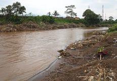 Inondazione di disastro dell'Indonesia - Garut 035 Immagini Stock Libere da Diritti