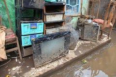 Inondazione di disastro dell'Indonesia - Garut 022 Fotografia Stock Libera da Diritti