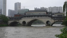 Inondazione di estate a Chengdu Cina