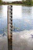 Inondazione di misurazione del fiume Fotografia Stock