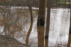 Inondazione di Rocky Mount North Carolina del parco di battaglia Fotografia Stock Libera da Diritti