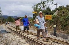Inondazione di sollievo Fotografie Stock Libere da Diritti