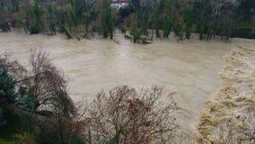 Inondazione di straripamento del fiume archivi video