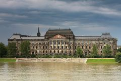 Inondazione a Dresda Fotografie Stock