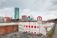 Inondazione a Francoforte Immagine Stock Libera da Diritti