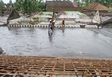 Inondazione fredda della lava Fotografia Stock Libera da Diritti