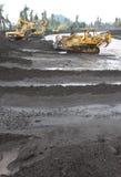 Inondazione fredda della lava Fotografia Stock