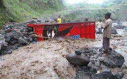 Inondazione fredda della lava Immagini Stock