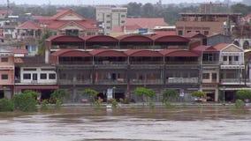 Inondazione, il Mekong, Cambogia archivi video