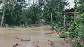 Inondazione, il Mekong, Cambogia, Sud-est asiatico video d archivio