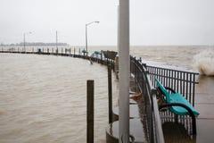 Inondazione Luna Pier Michigan Immagine Stock