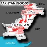Inondazione nel Pakistan Fotografia Stock