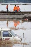 Inondazione No.2 arancione Fotografia Stock