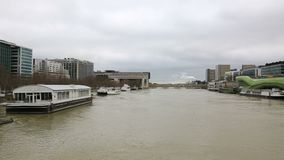 inondazione a Parigi stock footage