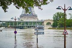 inondazione a Parigi Fotografie Stock