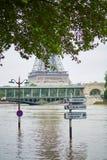 inondazione a Parigi Immagine Stock Libera da Diritti
