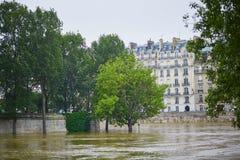 inondazione a Parigi Immagini Stock