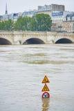 inondazione a Parigi Fotografia Stock Libera da Diritti