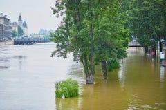 inondazione a Parigi Fotografia Stock
