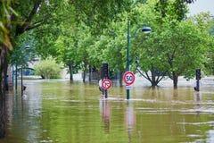 inondazione a Parigi Immagine Stock