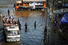Inondazione più difettosa di Bangkok in 2011 Immagini Stock Libere da Diritti