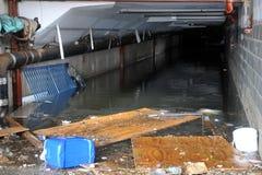 Inondazione serio nelle costruzioni Immagini Stock
