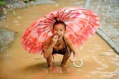 Inondazione, stagione della pioggia Fotografie Stock