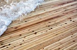 Inondazione su un pavimento di legno Fotografie Stock