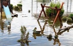 Inondazione sul campo da giuoco Immagini Stock
