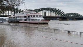 Inondazione sul Reno, Colonia, Germania Immagini Stock