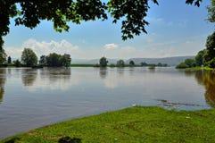 Inondazione sul Weser Fotografia Stock Libera da Diritti
