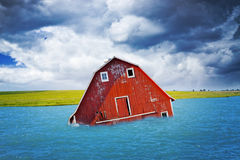 Inondazione sulla campagna americana fotografia stock libera da diritti