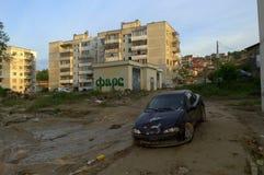 Inondazione Varna la Bulgaria nel 19 giugno Fotografia Stock