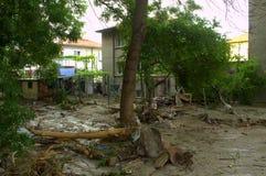 Inondazione Varna la Bulgaria nel 19 giugno Immagini Stock