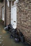 Inondazione - Yorkshire - dell'Inghilterra Fotografie Stock Libere da Diritti